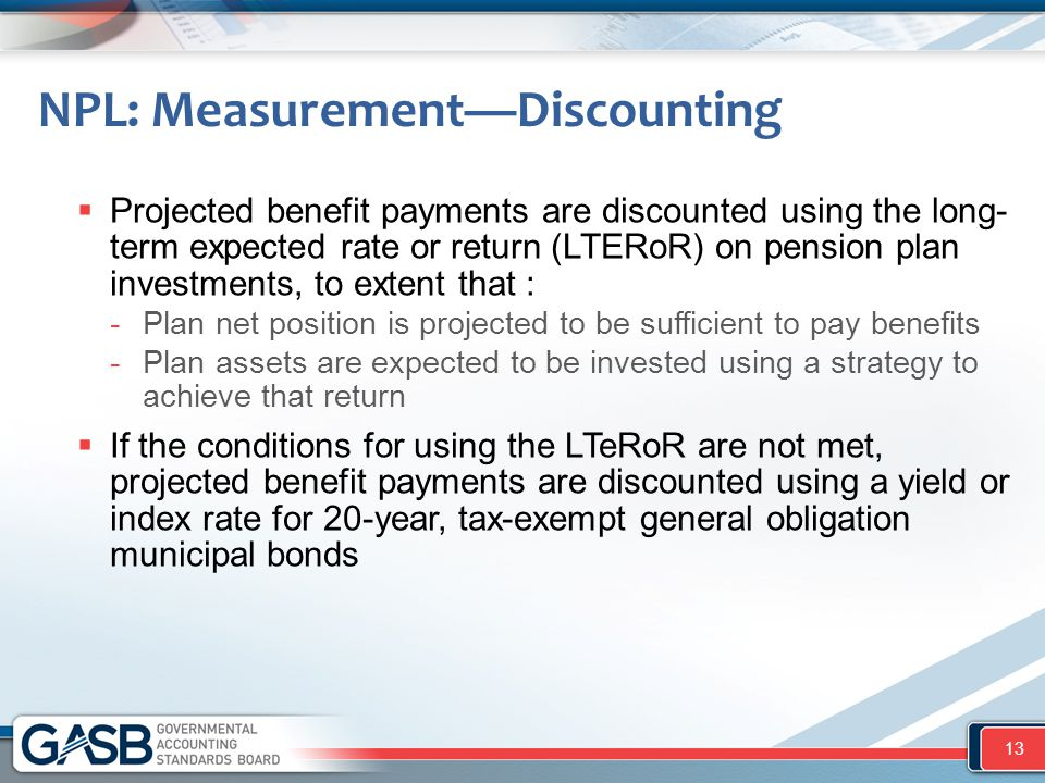 NPL: Measurement—Discounting