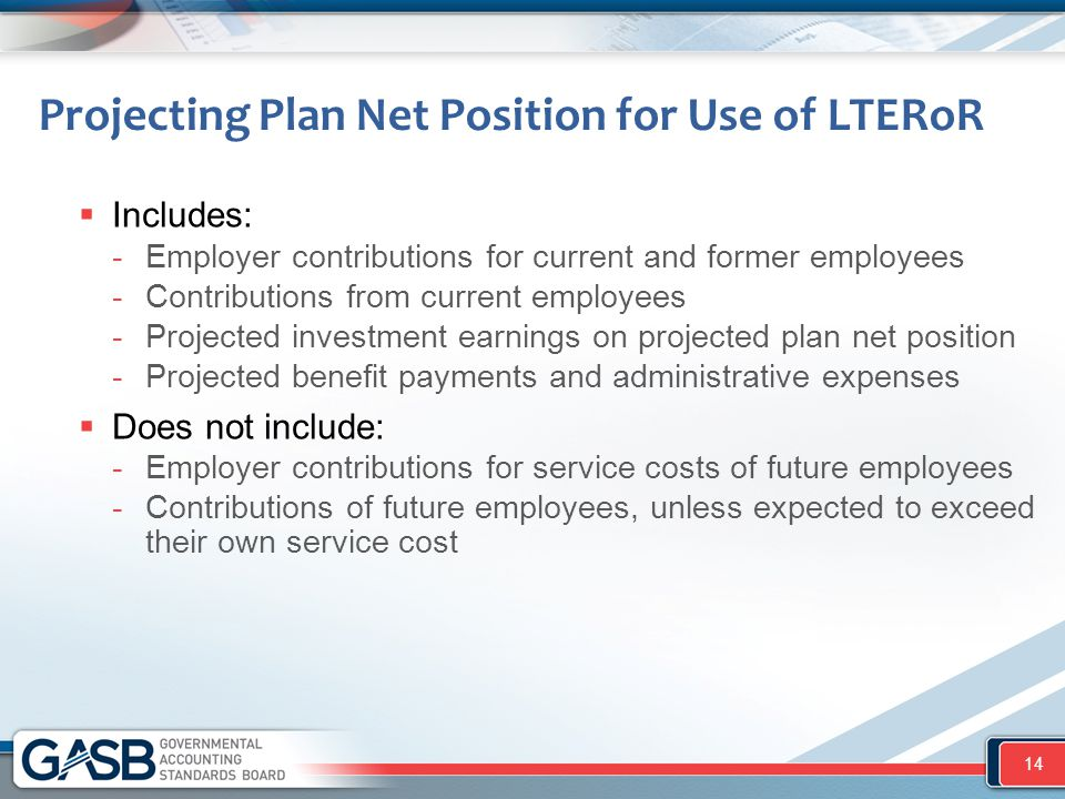 Projecting Plan Net Position for Use of LTERoR