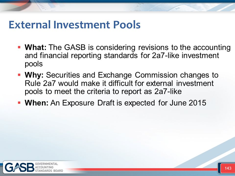 External Investment Pools