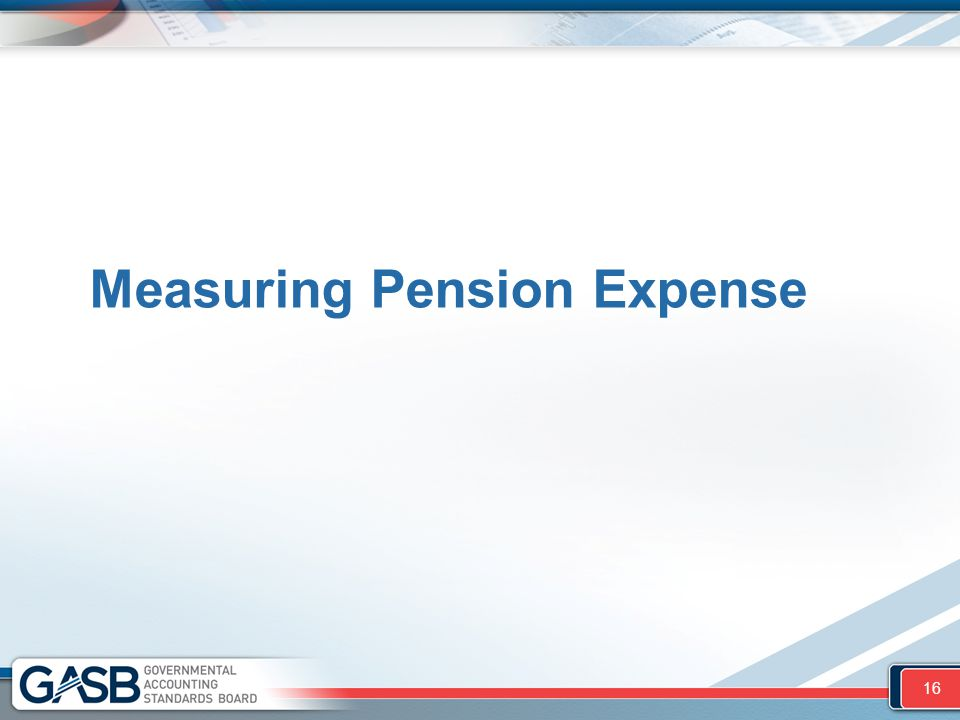Measuring Pension Expense