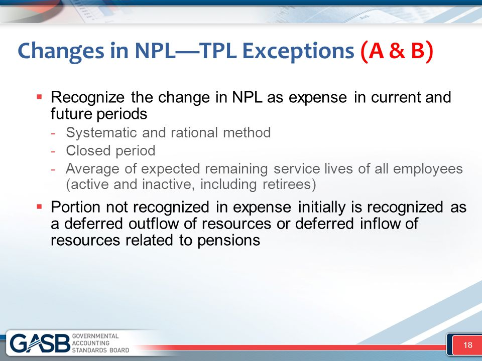 Changes in NPL—TPL Exceptions (A & B)