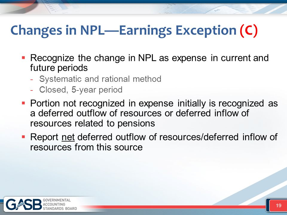 Changes in NPL—Earnings Exception (C)