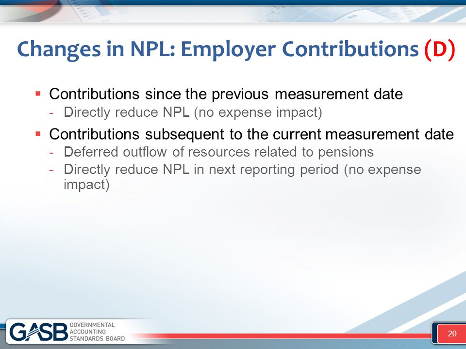 Changes in NPL: Employer Contributions (D)