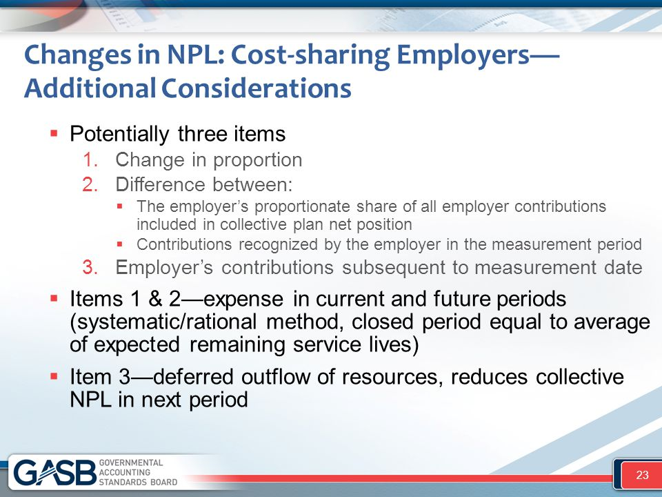 Changes in NPL: Cost-sharing Employers—Additional Considerations