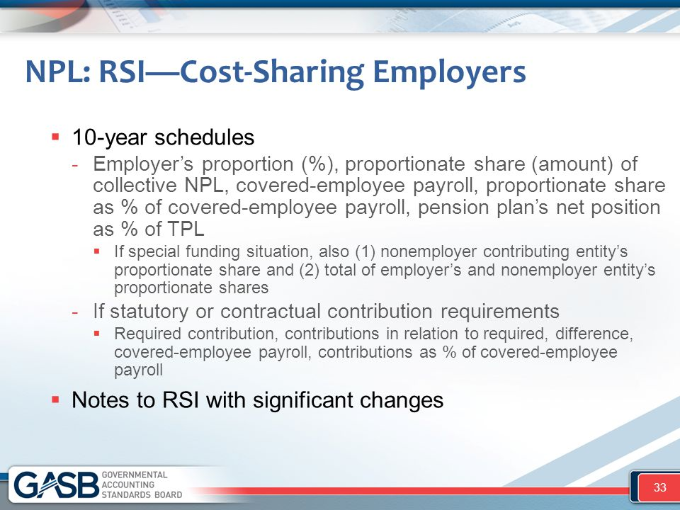 NPL: RSI—Cost-Sharing Employers