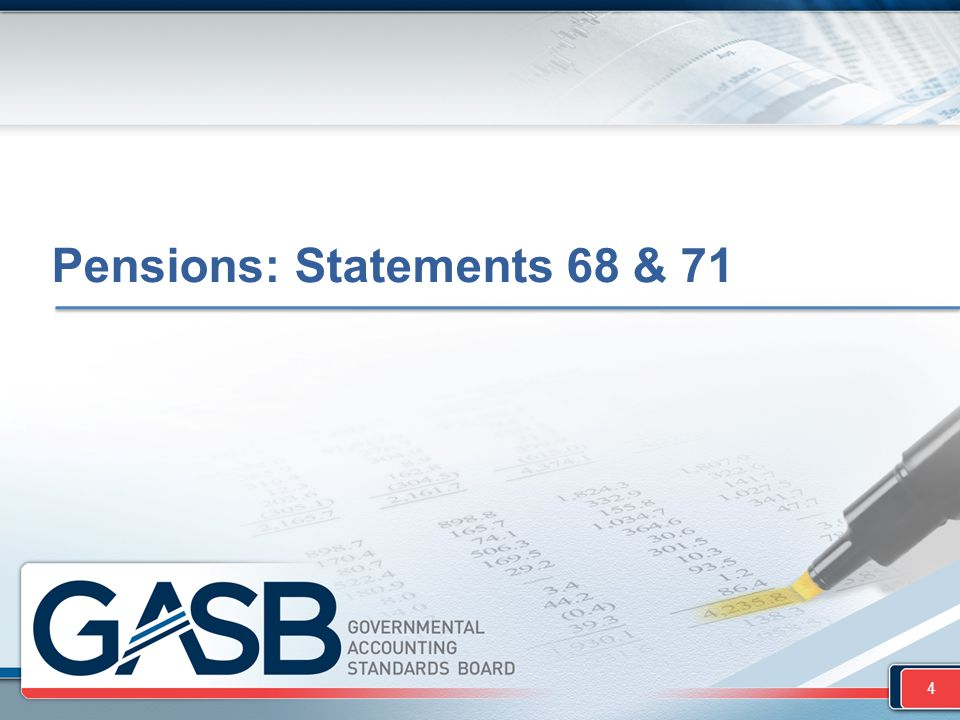 Pensions: Statements 68 & 71