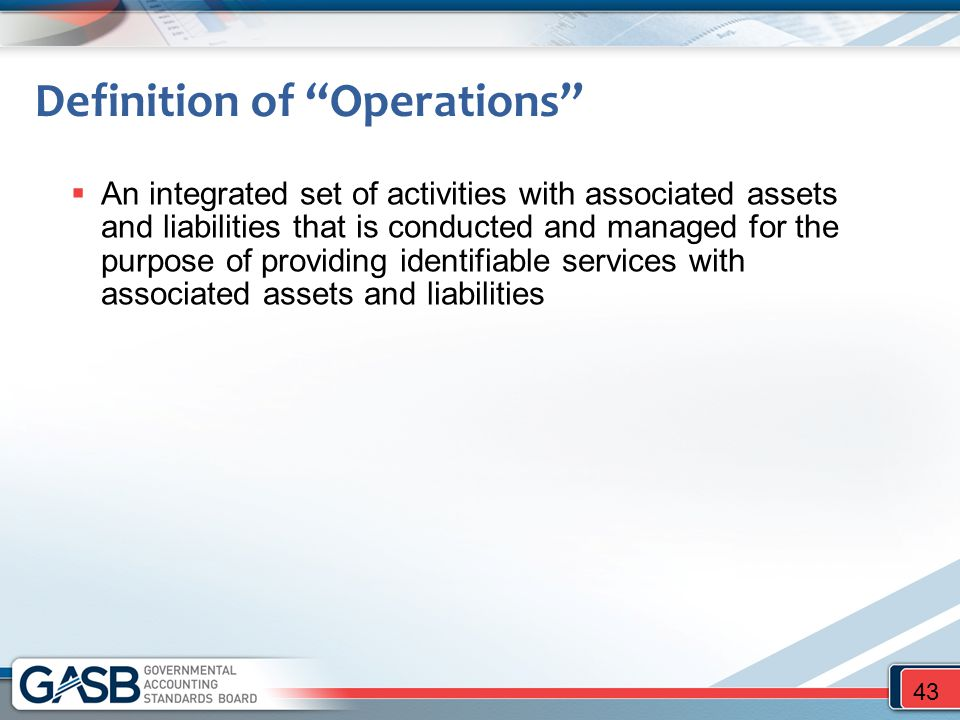 Definition of Operations