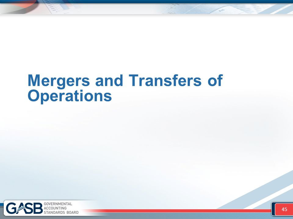 Mergers and Transfers of Operations