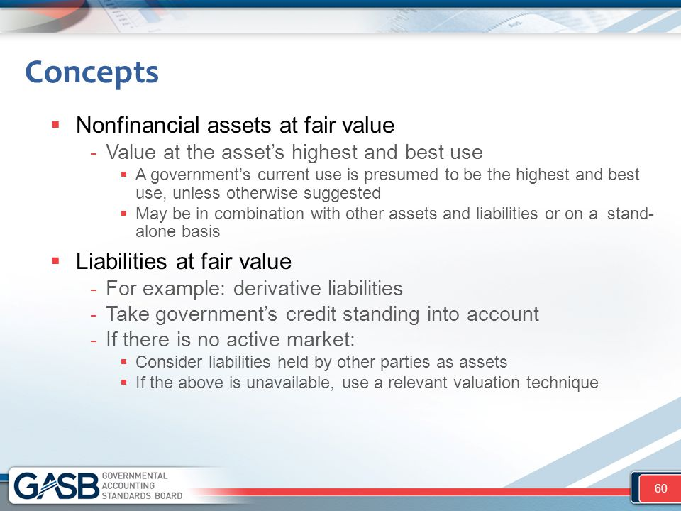 Concepts Nonfinancial assets at fair value Liabilities at fair value