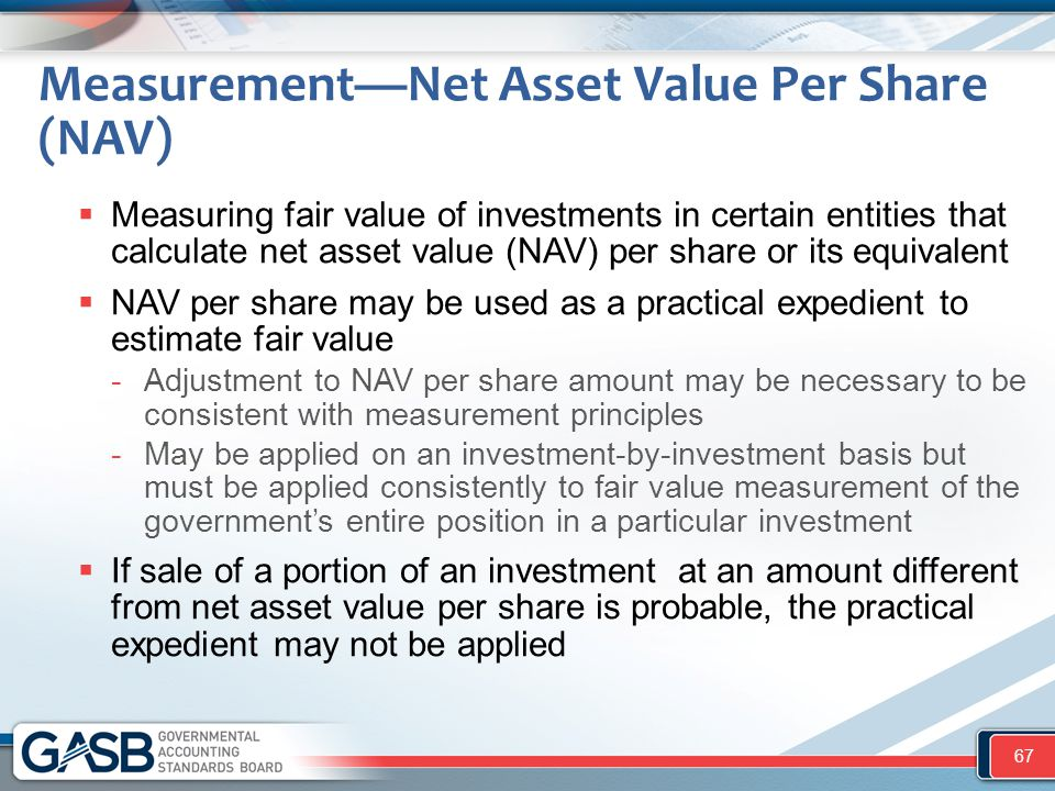 Measurement—Net Asset Value Per Share (NAV)