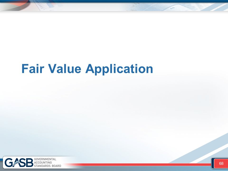 Fair Value Application