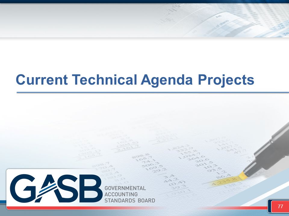 Current Technical Agenda Projects
