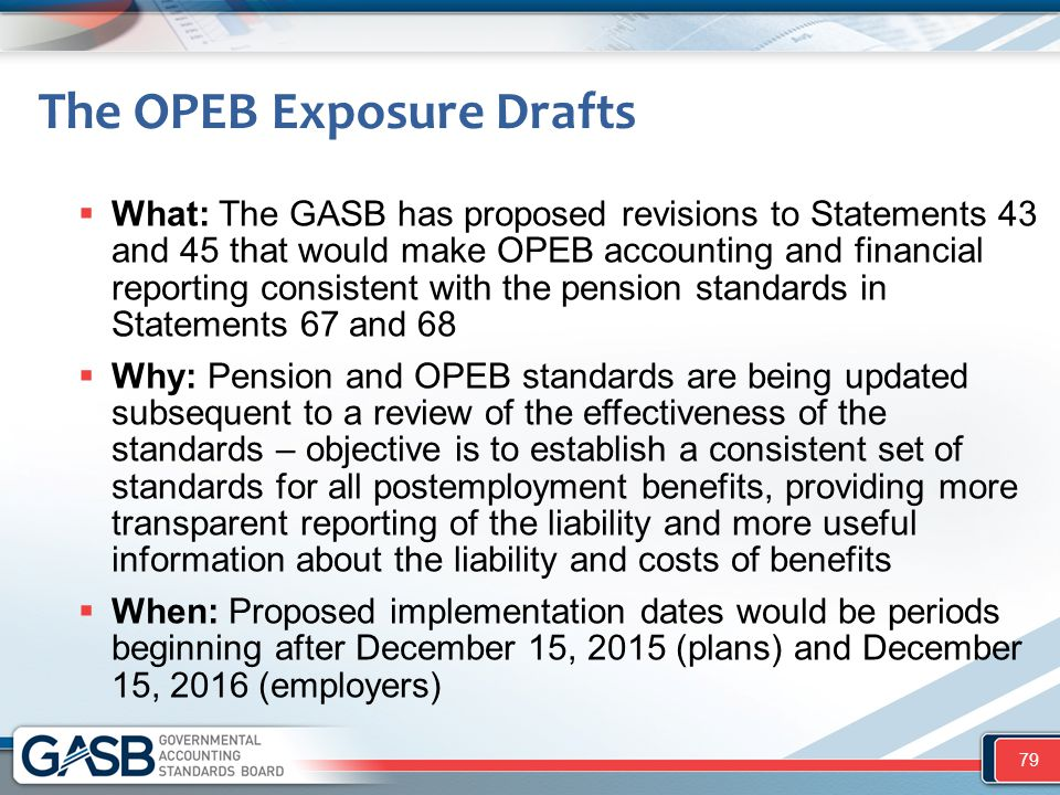 The OPEB Exposure Drafts