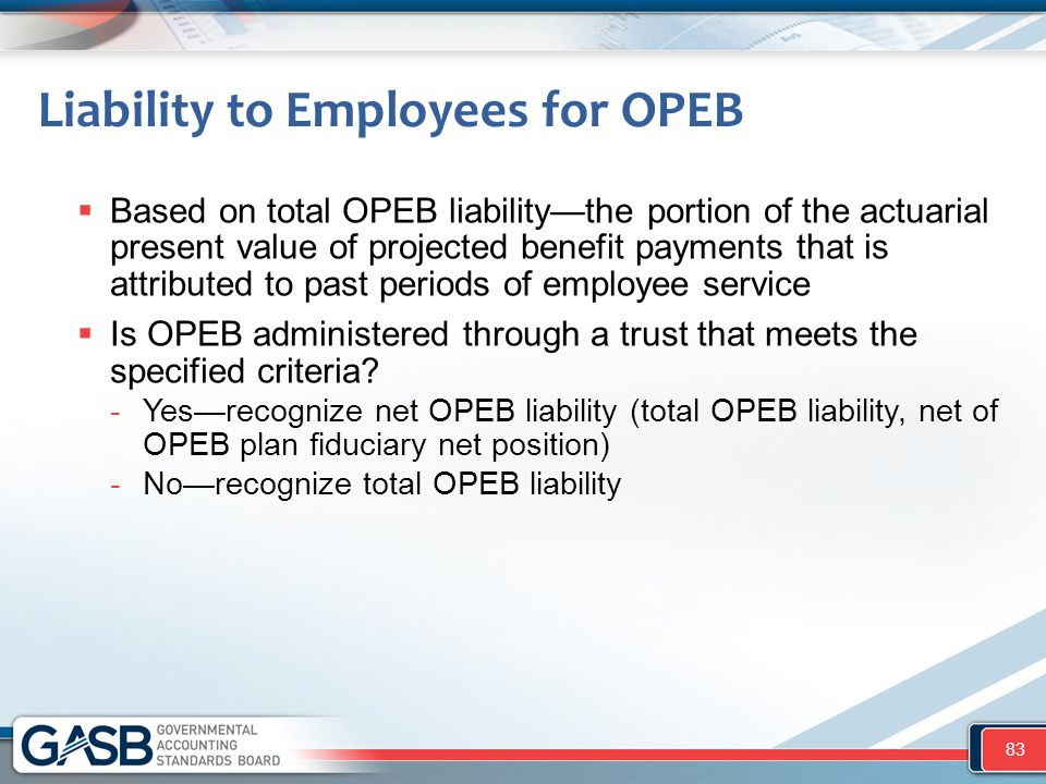 Liability to Employees for OPEB