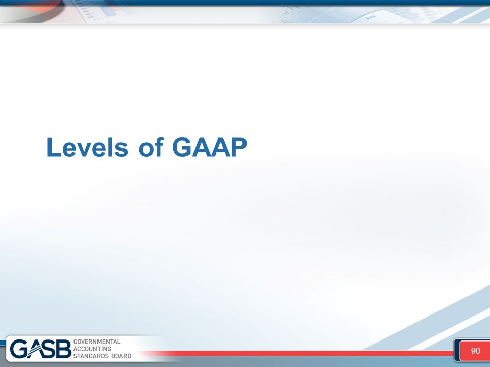Levels of GAAP