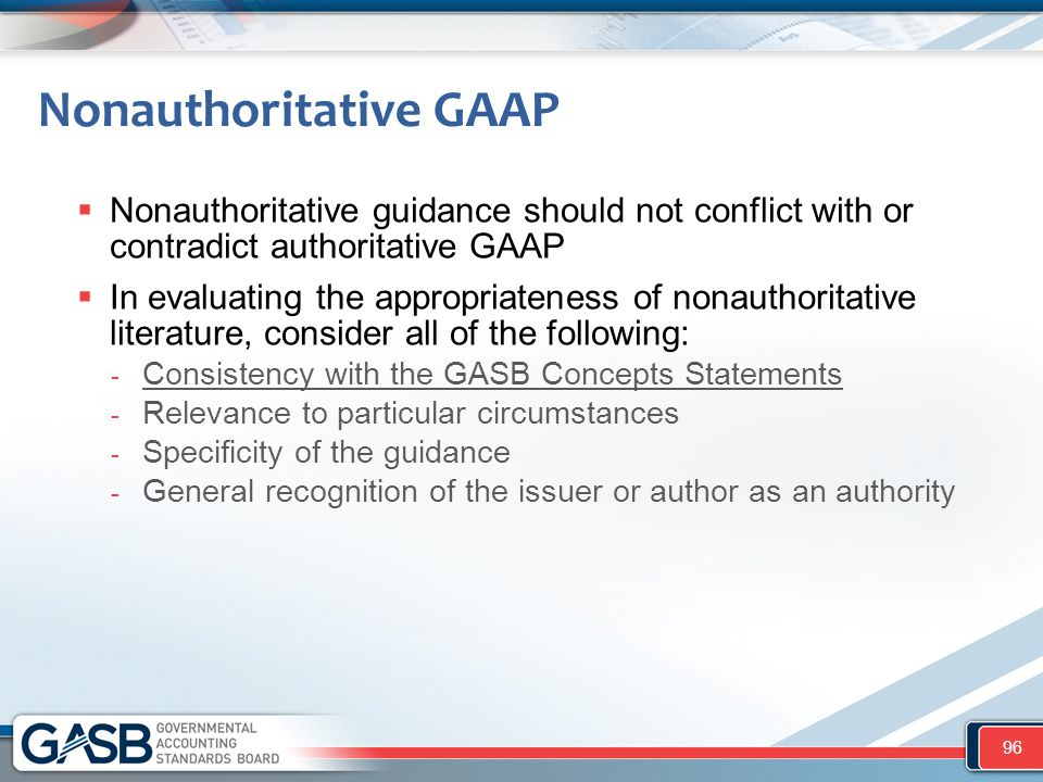 Nonauthoritative GAAP