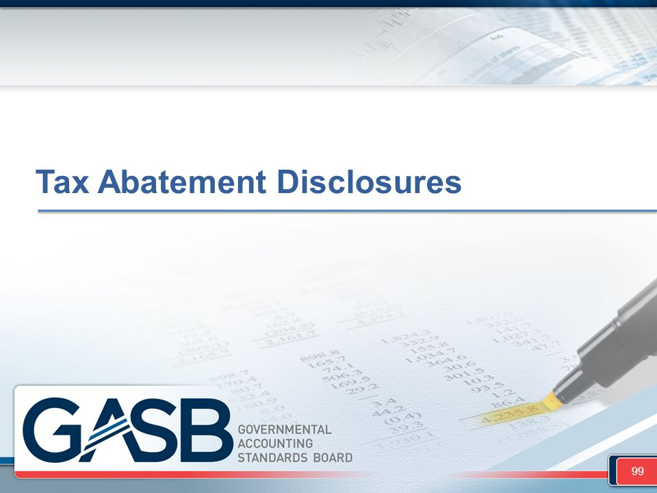 Tax Abatement Disclosures