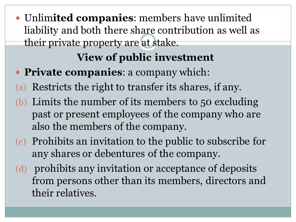 View of public investment
