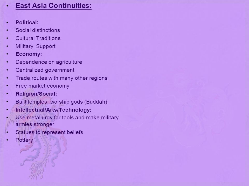 East Asia Continuities: