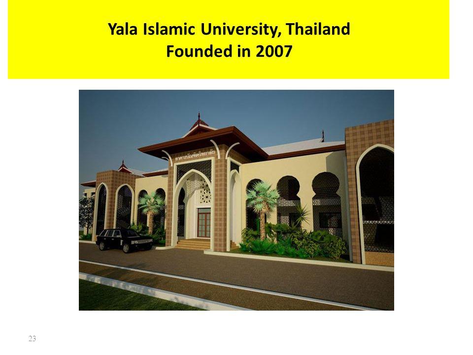 Yala Islamic University, Thailand Founded in 2007