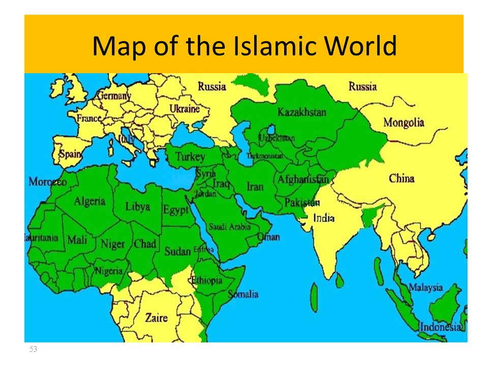 Map of the Islamic World