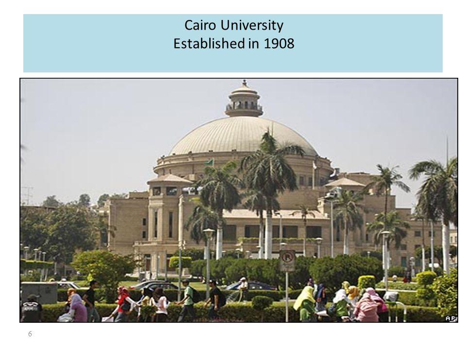 Cairo University Established in 1908
