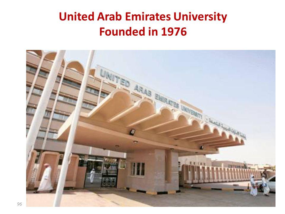 United Arab Emirates University Founded in 1976