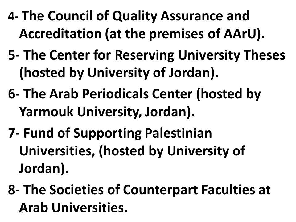 6- The Arab Periodicals Center (hosted by Yarmouk University, Jordan).