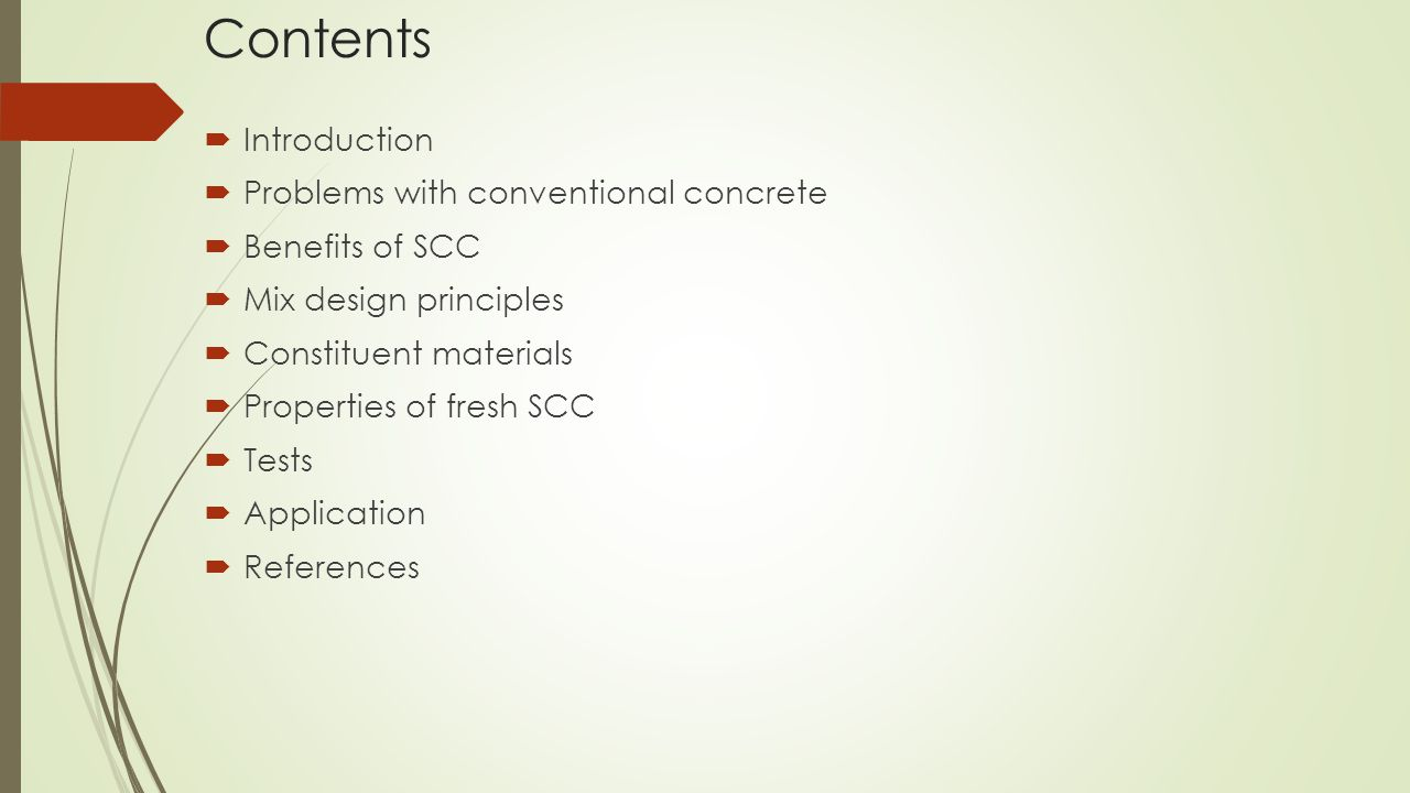 Contents Introduction Problems with conventional concrete