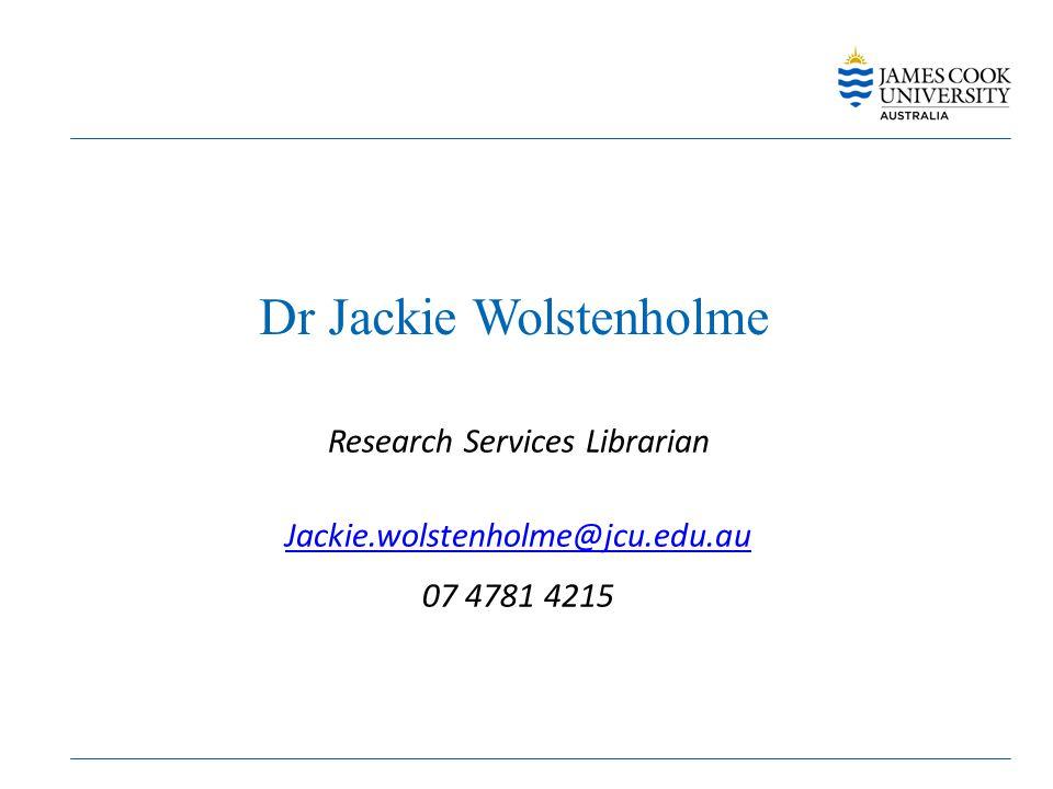 Dr Jackie Wolstenholme