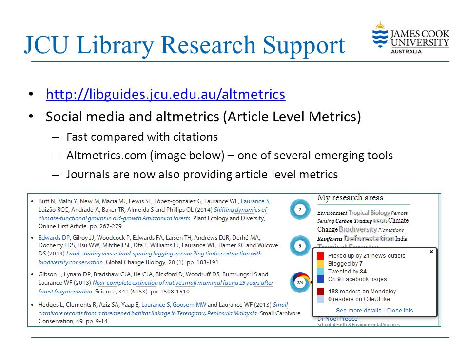 JCU Library Research Support