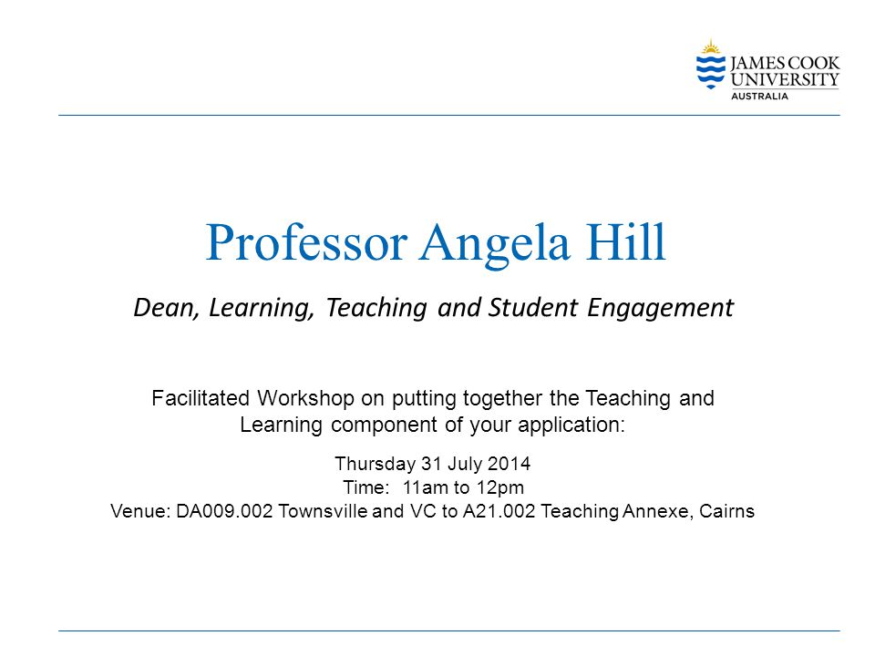 Professor Angela Hill Dean, Learning, Teaching and Student Engagement