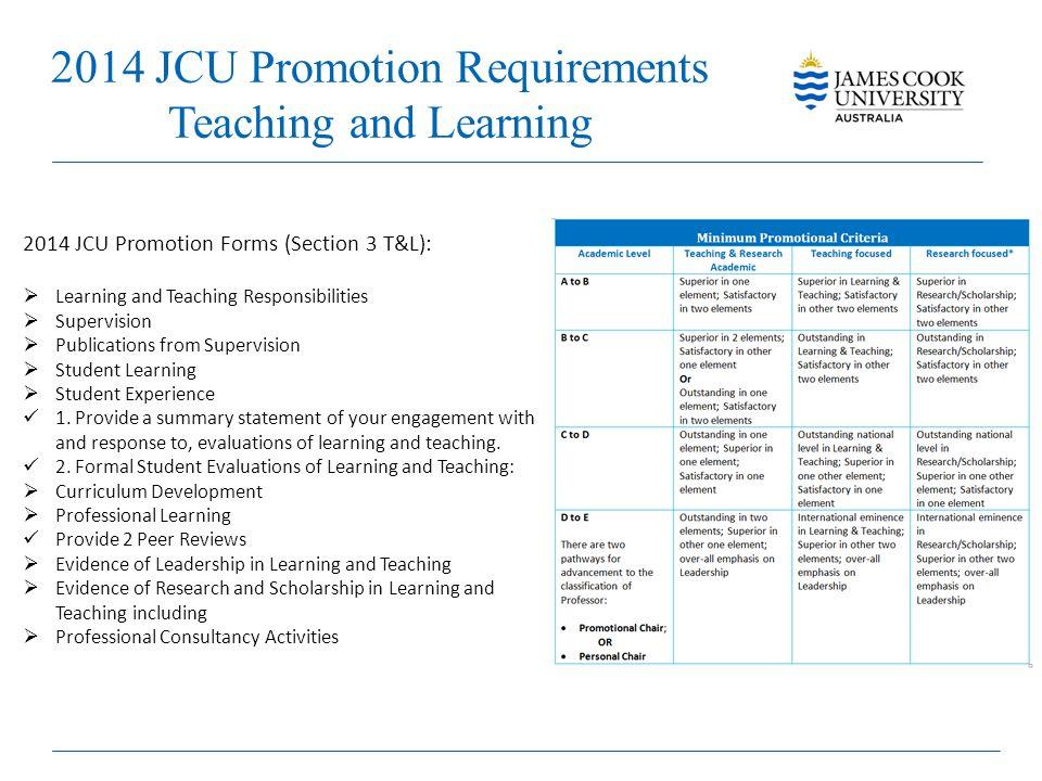 2014 JCU Promotion Requirements