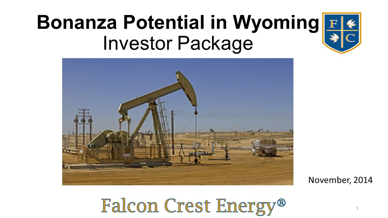 Bonanza Potential in Wyoming Investor Package