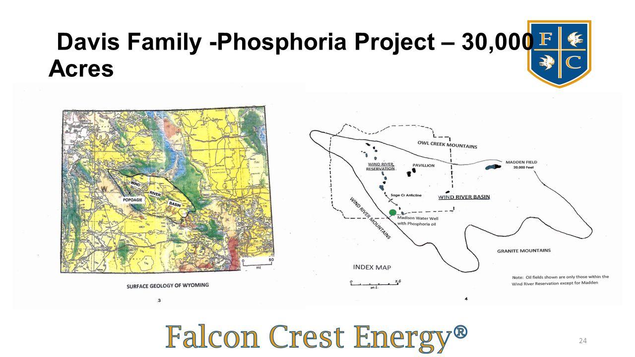 Davis Family -Phosphoria Project – 30,000 Acres