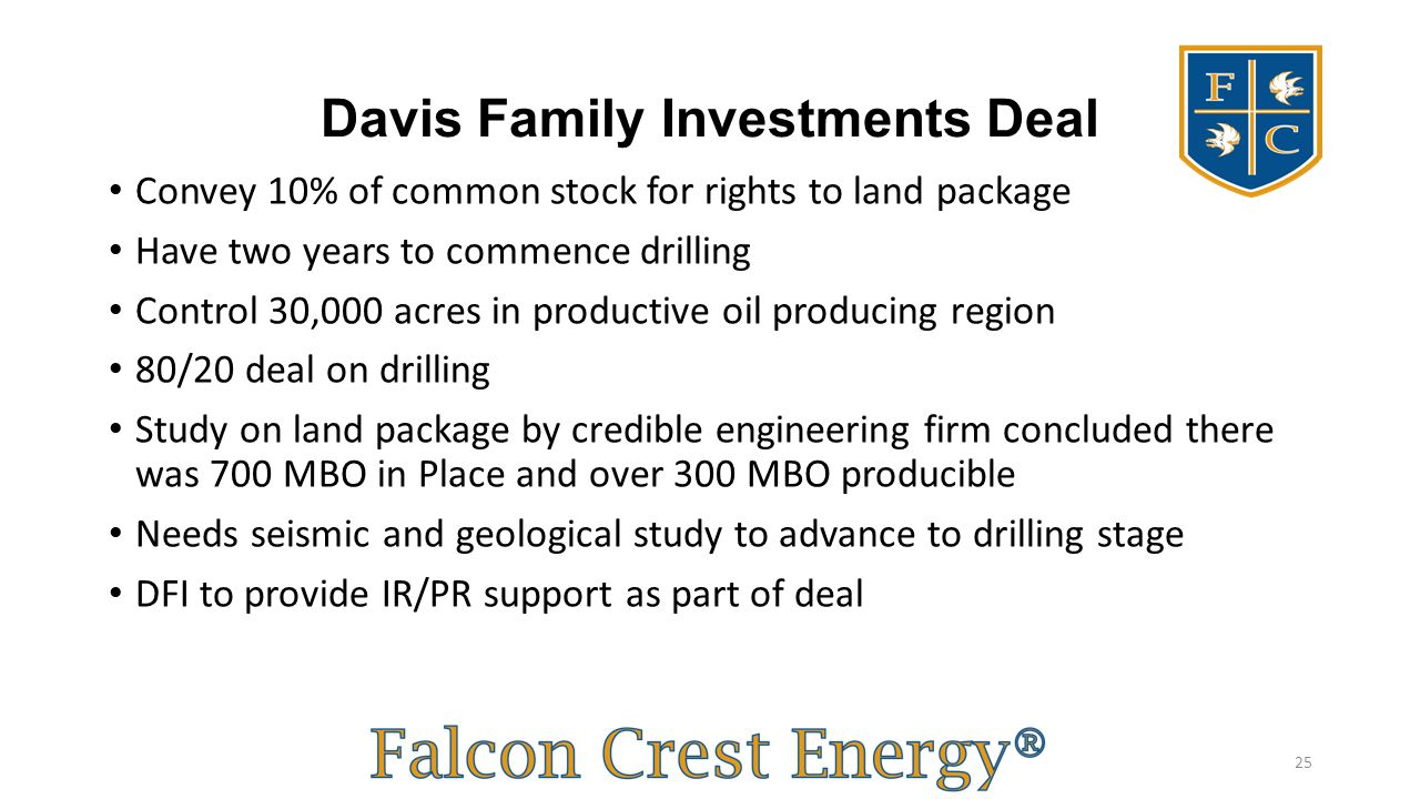Davis Family Investments Deal