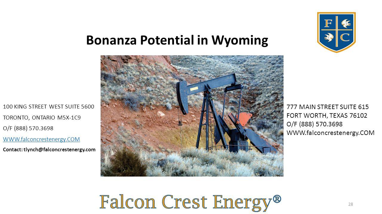 Bonanza Potential in Wyoming