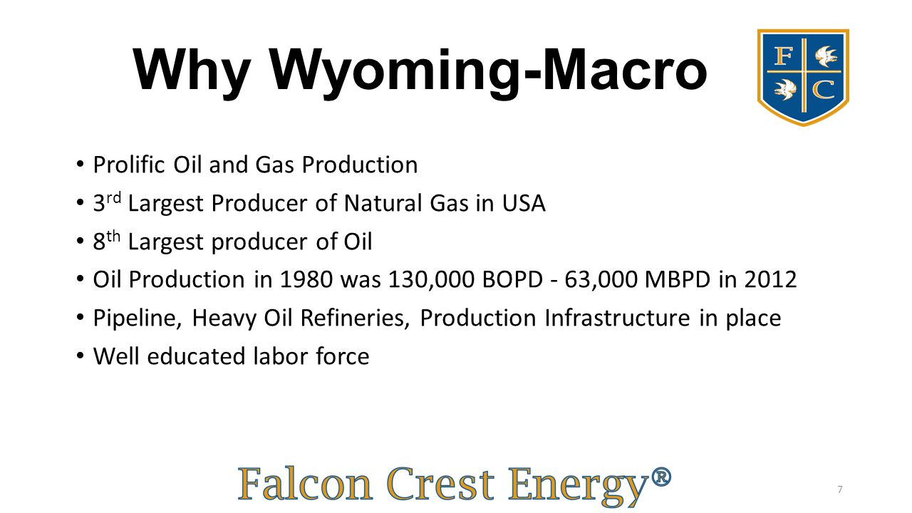 Why Wyoming-Macro Prolific Oil and Gas Production
