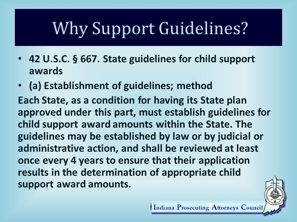 Why Support Guidelines