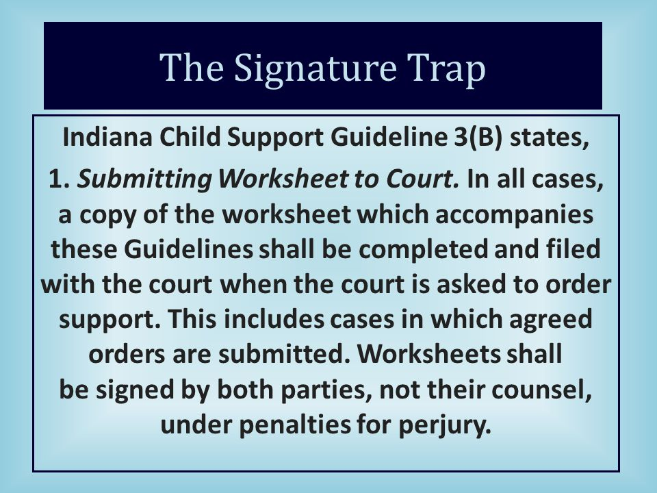 Establishment of Paternity Establishment of Support ppt download – Indiana Child Support Worksheet