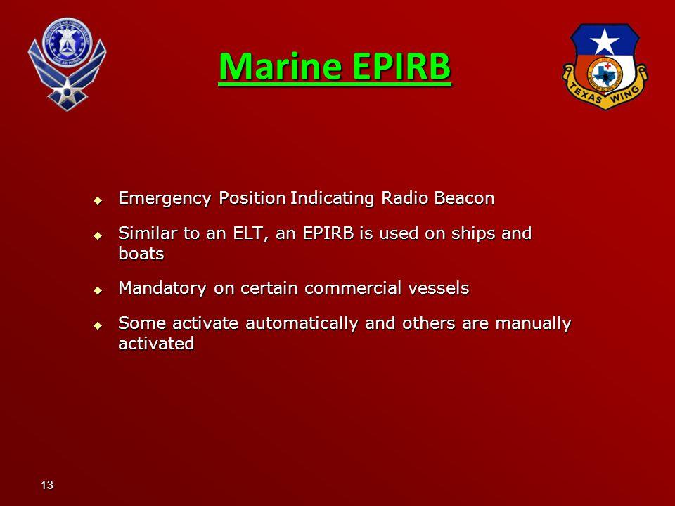 Marine EPIRB Emergency Position Indicating Radio Beacon