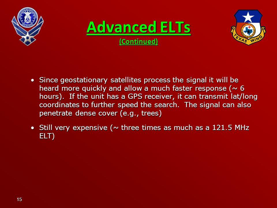 Advanced ELTs (Continued)