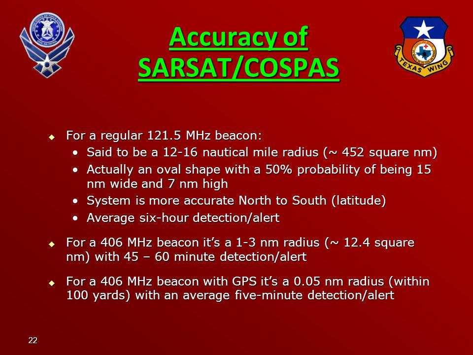 Accuracy of SARSAT/COSPAS