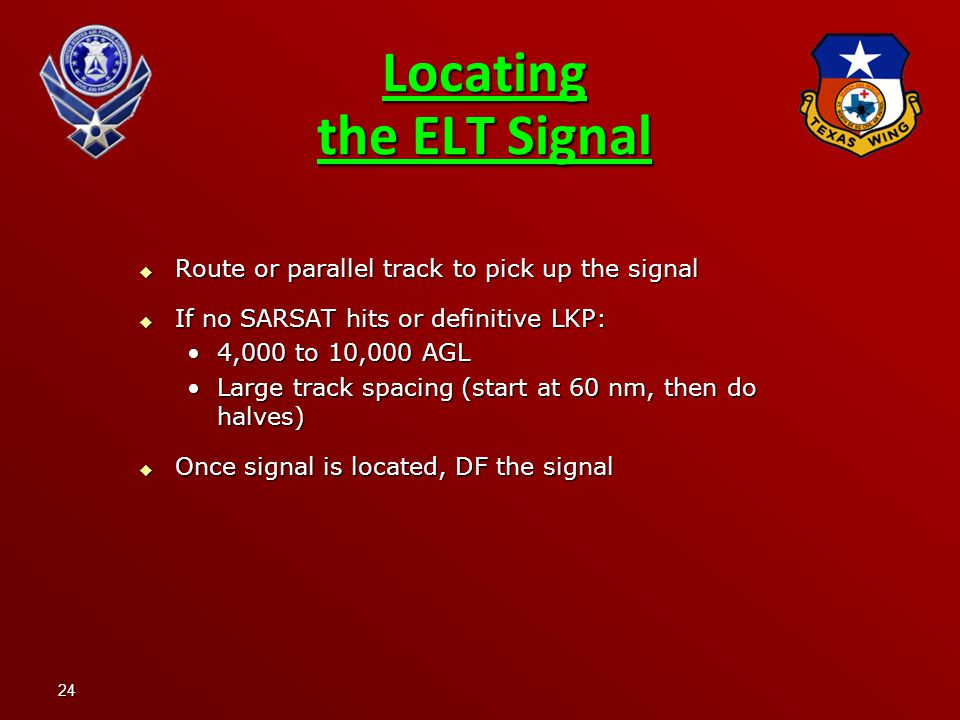 Locating the ELT Signal