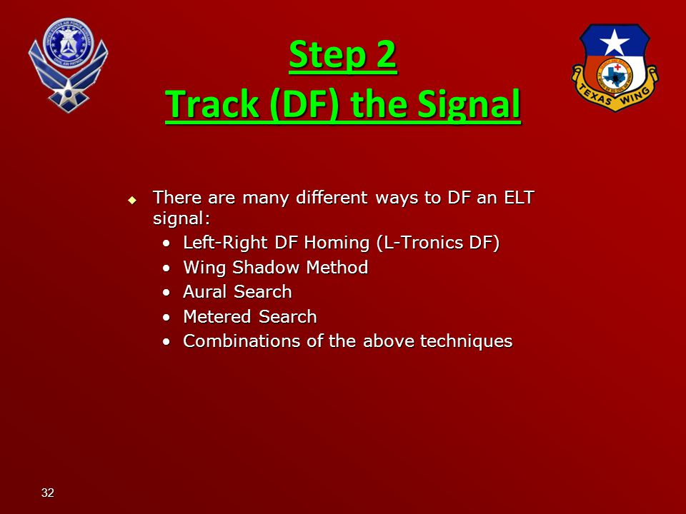 Step 2 Track (DF) the Signal