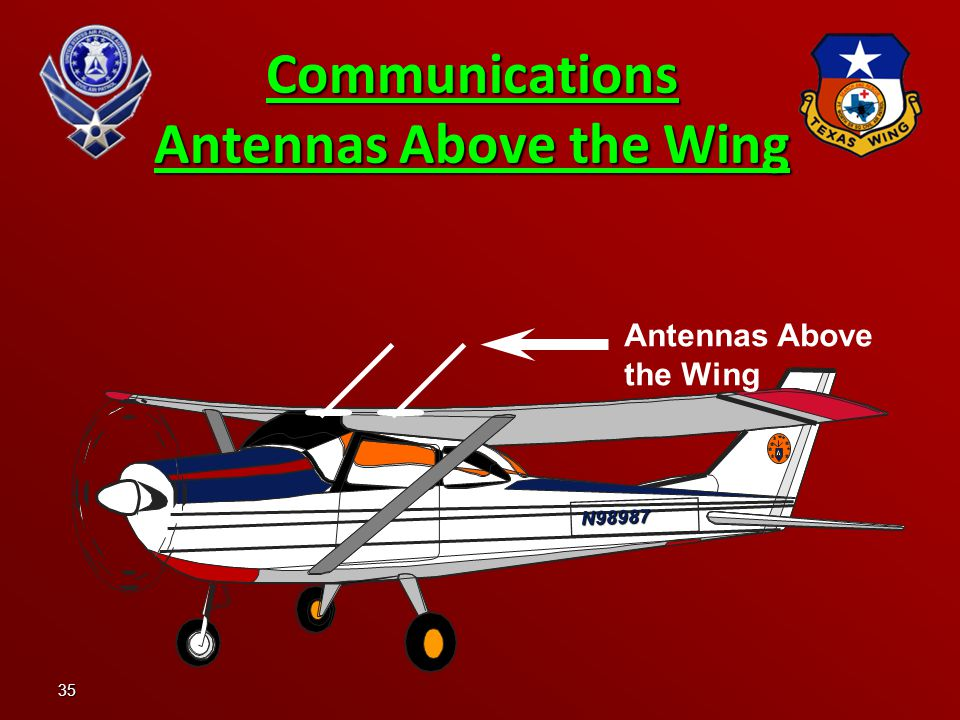Communications Antennas Above the Wing