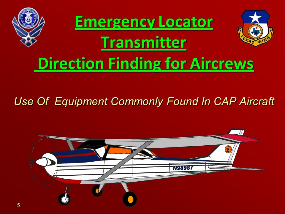 Emergency Locator Transmitter Direction Finding for Aircrews Use Of Equipment Commonly Found In CAP Aircraft