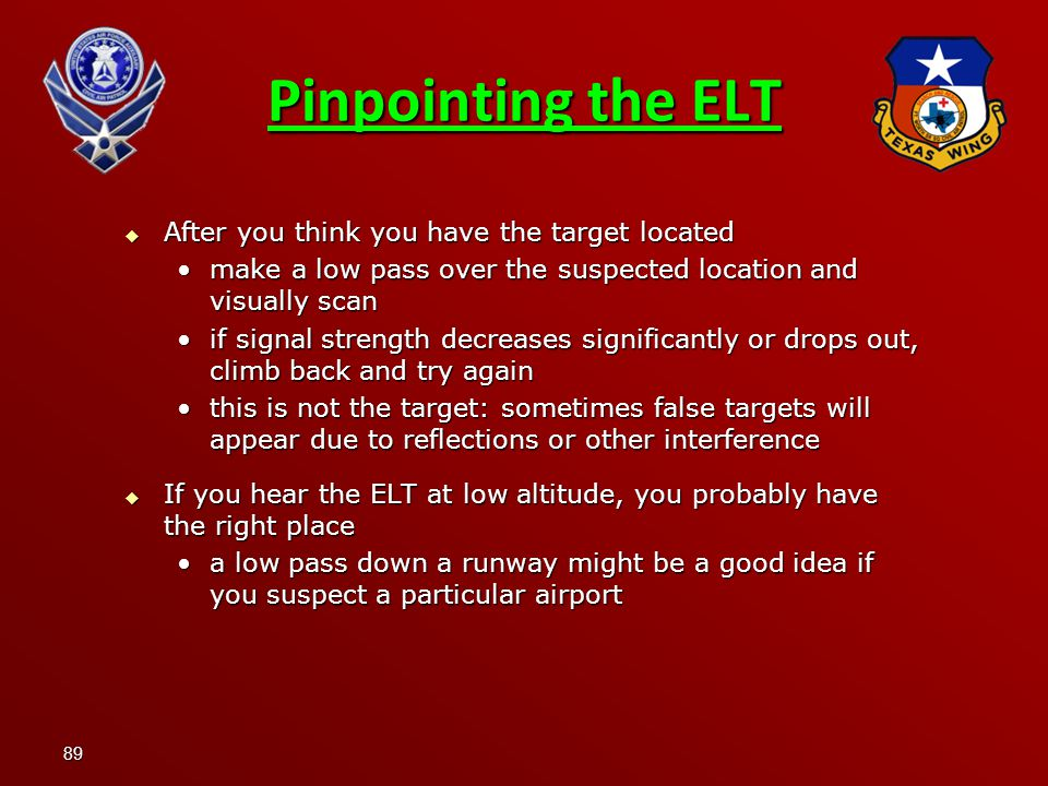 Pinpointing the ELT After you think you have the target located