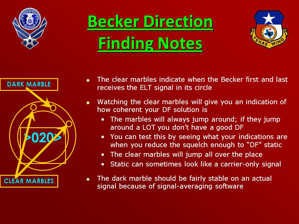 Becker Direction Finding Notes