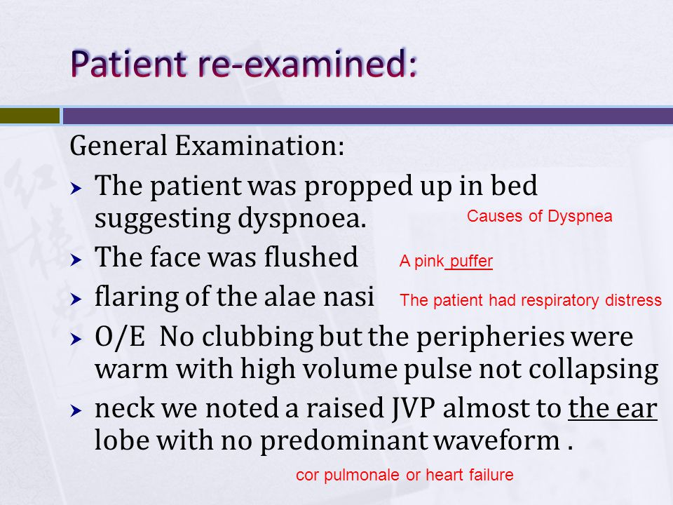 Patient re-examined: General Examination: